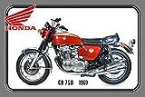 Froy Comcard Honda Cb750 1969 67Ps Motorrad, Wand