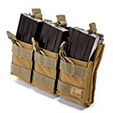 WOLF TACTICAL Molle Mag Pouch - AR Magazine Holder M4 Mag Pouch 5.56 Magazine AK Mag Carrier - Rifle Accessories Tactical (Holds 6 Mags)