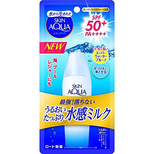 Skin Aqua Rohto Newer Model Super Moisture Milk 40ml - SPF50+/PA++++ (Green Tea Set)