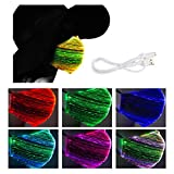 1 Pieces Grey LED Light UP Costumes Mask- 7 Colors Luminous Glowing Costume Mask for Halloween Christmas Parties, Festival Rave Masquerade Costumes (4 Flash Modes)