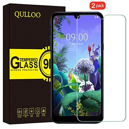 QULLOO Protector de Pantalla LG Q60 / LG K50, Cristal Templado [9H Dureza][Alta Definición][Fácil de Instalar] para LG Q60 / LG K50 (2 Piezas)