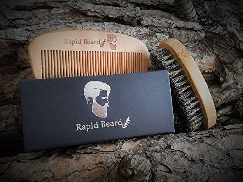 Bartbürste und Bartkamm Set für Styling und Gestaltung Abbildung 3