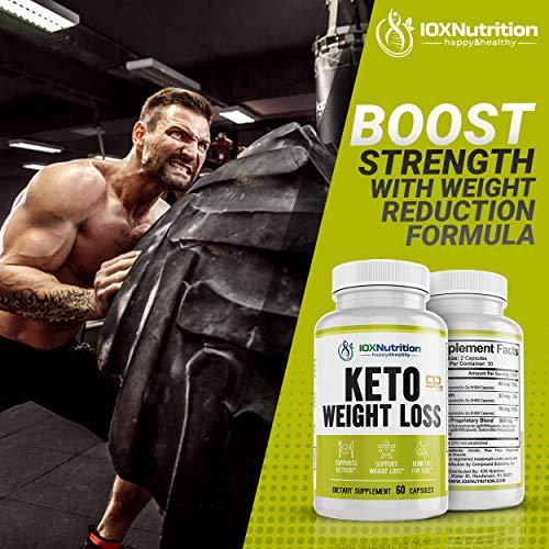 Keto Pills - Supports Keto Burn - Fast Ketosis Diet for Men and Women - Slim Formula with Advanced Keto Pill Capsules - Boost Keto Energy and Metabolism - Pure BHB Keto Pills - 60 Capsules 5