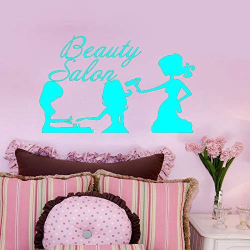 zqyjhkou Pegatinas de Pared de Vinilo de Tres Chicas guapas Salón de Belleza Peluquería Pegatina de Pared Decorativa extraíble Papel Pintado a Prueba de Agua 6 57X89cm