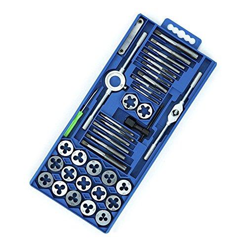 LARS360 Gewindeschneidsatz 40tlg. Gewindeschneidwerkzeug-Satz Fein Gewinde Schneider Bohrer Werkzeug Set (40tlg.)