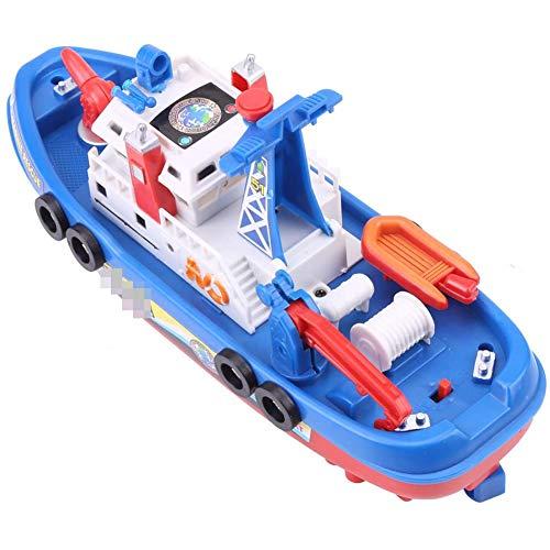 Elektrische blusmiddelen FIRE schipboot speelgoed met VOICE Flash Zwembad Toy,Blue