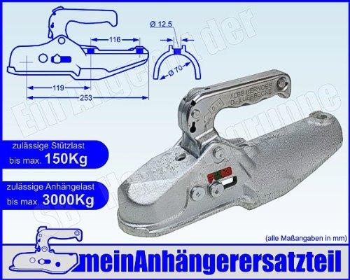 ALBE Berndes Zugkugelkupplung Kugelkupplung Zugrohr 70mm EM 300 R G 05670 für Pkw Anhänger