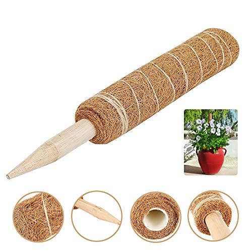 everso 45cm Pflanzstab Kokos Rankstab Rankhilfe Blumenstab Kokosstab Natürlicher Kokosfaser Verlängerbar für Haus Garten Kletterpflanze Erweiterung Der Pflanzenstütze Blumentopf Deko