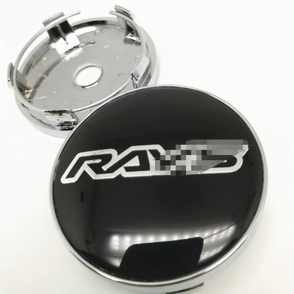 NADAENB 4Pcs 60mm Rays Car Wheel Center Hub Caps Center Cover Emblem Badge Antipoussi/èRe Cover
