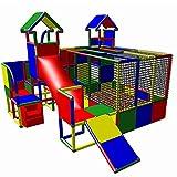 move and stic 6007 - großer Spielturm MIA mit Kleinkindrutsche und Kriechtunnel, Treppe und...