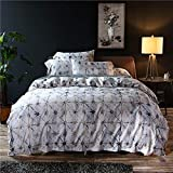 KWOPA Algodón Largo Egipcio Suave Ropa De Cama,Sedoso Easy Care Cozy Hoja Plana,Absorbente De Humedad Wicking Respirable 4-Pieza Bed Sheet Set