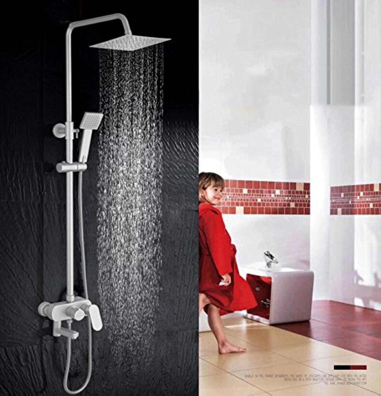 Aoligei Raum-Aluminium-Dusche Sprinkler Set Bad heien und Kalten Wasserhahn Aufhebung Druck Mischen Ventil Dusche Duschkopf