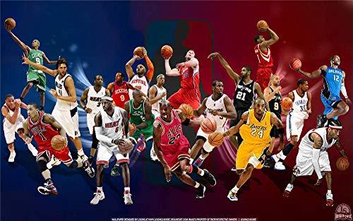 GHGXGJ Puzzle para Adultos 1000 Piezas, Juegos de Madera en 3D, Juguetes, niños y niñas, NBA All-Star / después de la finalización Tamaño Total: 52 * 38 cm