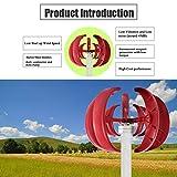 Moorecastle 400W 24V Lantern Type 5 Nylon Fiber Blades Vertical-axis Wind Power Generator