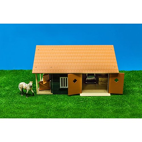 Windows and Roof 1:24 Scale Pink with Movable Doors Van Manen Kids Globe Horses Wooden Horse Farm 610210