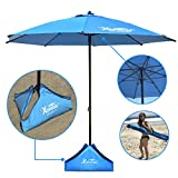 Xbrellas -High Wind Resistant Beach Umbrella – Sand Base - 7.5' Round – Patent Pending