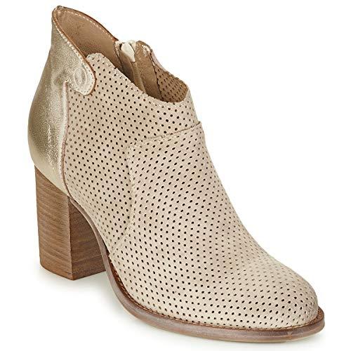 CASTA NEVA Enkellaarzen/Low boots dames Creme/Goud Low boots