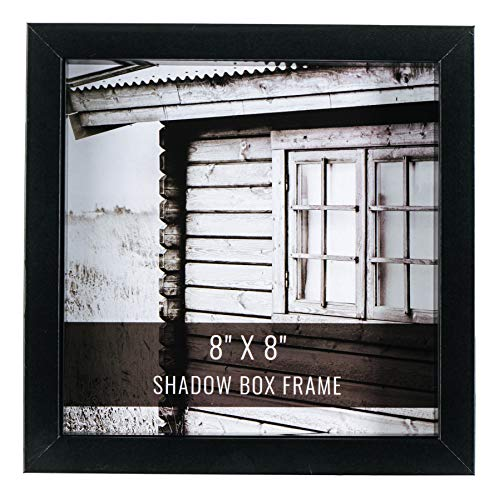 CraftMore Black Shadow Box Frame 8x8 Inch