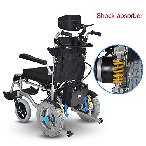 ZLL Medizinischer Reha-Stuhl, Rollstuhl, Leichtgewicht-Rollstuhl, Elektrorollstuhl Öffnen/Zusammenklappen In 1 Sekunde Leichtester, Kompaktester Elektrorollstuhl Antrieb Mit Elektroantrieb Oder Man