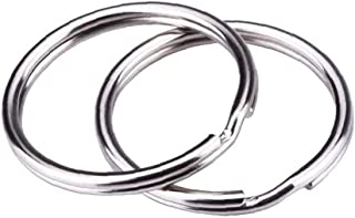 MOONT Split Rings for Keyrings Craft 12 mm Pack of approximately 100 pieces Silver