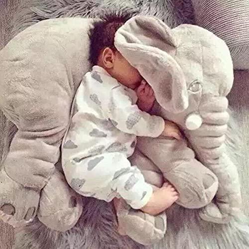 60CM de una pieza lindo elefante de peluche de juguete con almohadas de nariz larga cojines de bebé rellenos juguetes de elefantes súper suaves