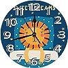 スイートドリームフレーズとベッドで眠っているライオンのスケッチのカラフルなイラスト壁掛け時計 電池式 静音 10インチ ビンテージ カラフルなキッチン壁時計 静音 アナログクォーツ 子供部屋 リビングルーム バスルーム