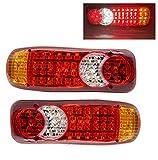 2 pz 12V 24V camion LED fanale posteriore luce posteriori lampada camper indicatore inverso luci inVerse per rimorchio camion auto fanali posteriori,24V