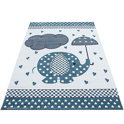 Tapis pour enfant SIMPEX - Motif éléphant, nuage - Pour chambre d