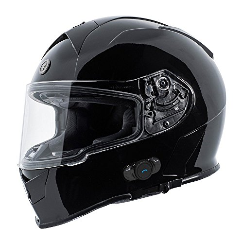 TORC T14B1 BK XXL T14B Bluetooth Integrated Mako Full Face Helmet...