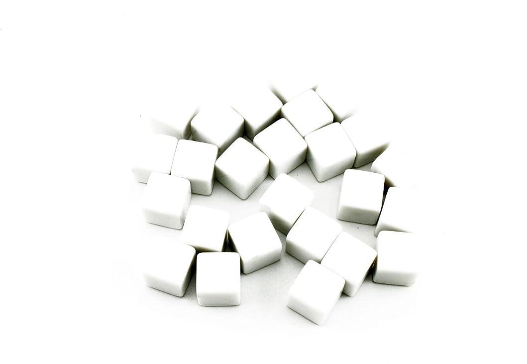 他に遊具小説家naissant 無地 空白 RPG ゲーム サイコロ ダイス 白サイコロ 6面 16mm 25個セット (角 角型)