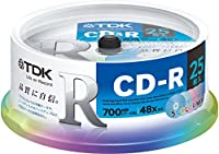 TDK データ用CD-R 700MB 48倍速対応 5色カラーミックスディスク 25枚スピンドル CD-R80CMX25PE