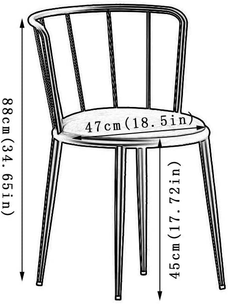 Rétro Chaises Rembourrée,Jambes en Métal Robustes Pour La Chambre du Salon Patio du Bureau Chaise de Salon Design (Color : Blue1) Blue1