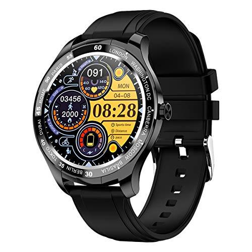 PADGENE Smartwatch, Smartwatch für Männer mit Herzfrequenzmesser, Kalorien, Schlafmonitor, Stoppuhren, Schrittzähler, Activity Tracker für Android/iOS (Schwarz)
