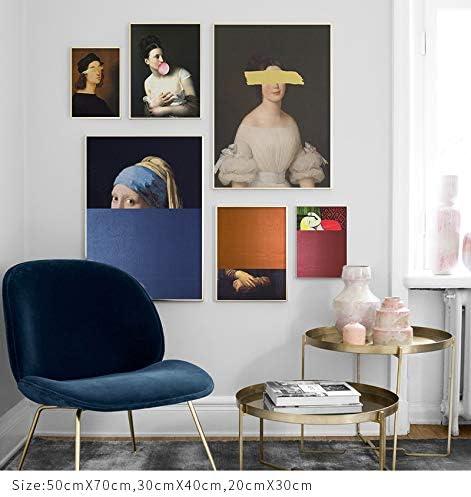 Wereld Beroemde Creatieve Middeleeuwen Europese vrouw portret Make-up Canvas Schilderen Muur Art Fantasy Posters Foto Woonkamer Slaapkamer Studio Decoratie X