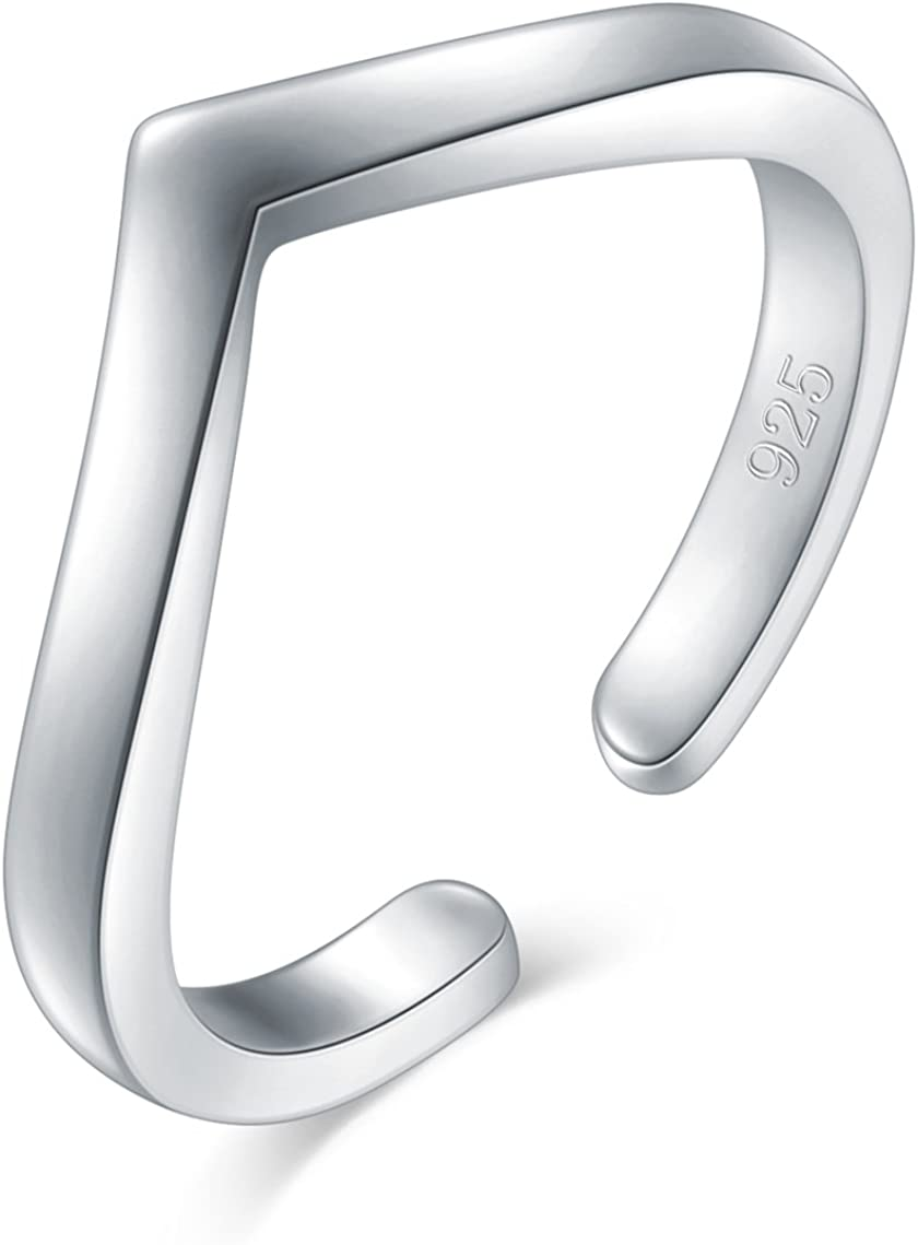 925 National uniform free shipping Sterling Silver Toe Ring Wave Max 62% OFF Hawaiian BoRuo Adjust Chevron
