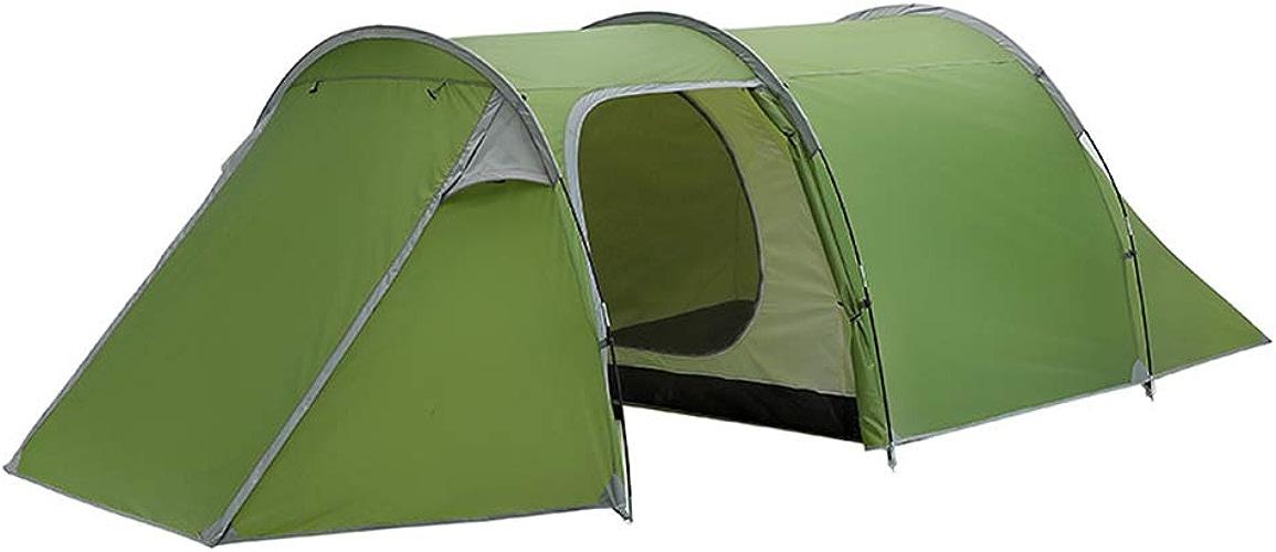 MIMI KING Tentes de Camping Famille 3-4 Personne Portable Facile mis en Place Tunnel Tente imperméable à l'eau pour la pêche en Plein air randonnée Camping Backpacking,vert