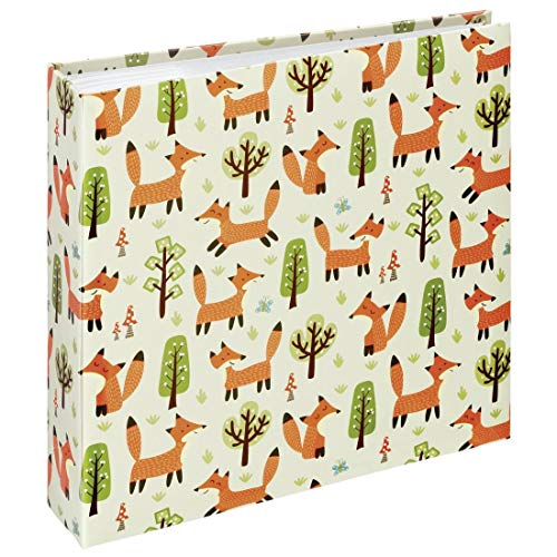 "Hama Album photo mémo ""Forest"" (pour 200 photos au format 10 x 15 cm, album traditionnel enfant de 22,5 x 22 cm, 100 pages blanches, renards, élégant, emplacement CD) Marron/Beige/Vert/Orange/Blanc"