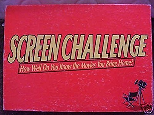 SCREEN CHALLENGE 'How Well do you Know the movies you bring home?' 1991 by Cadaco