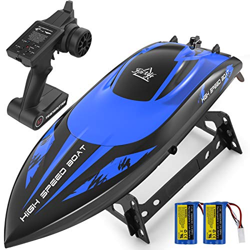 RC Boat Large Scale , 20MPH High Speed Remote Control Boat, 2.4Ghz RC Boats for Adults with 2 Rechargeable Batteries, 15-30 Mins Working Time for Kids & Boys for Lakes, Pools and Rivers