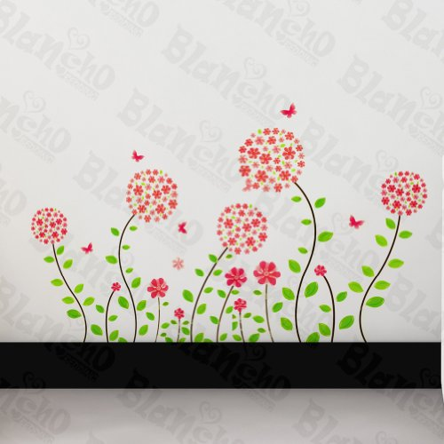 Fleurs Alice au pays des merveilles – Patchs Rouge Stickers muraux Stickers Décoration intérieure