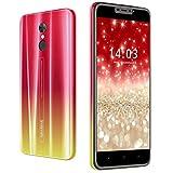 Moviles Libres 4G, DUODUOGO 5.5 Pulgadas Moviles Buenos 3GB RAM 16GB RAM, 13MP + 5MP Cámara Android 9.0 Smartphone 4800mAh Batería Desbloqueo Facial WiFi Bluetooth GPS