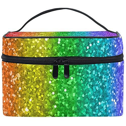 Rainbow Glitter Star Femmes Voyage Sac Cosmétique Portable Maquillage Train Case Trousse De Toilette Beauté Organisateur
