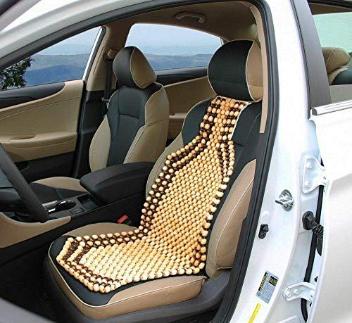 Car-Dec ® Car Seat Beat Wooden Cushion Cover Pad for Acupressure Sitting (Cream colour)