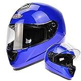 Viper Rider Cascos RS-250 Integrales De Moto Urbano Cruiser Homologado ECE 22-05 Para Mujer Hombre Adultos Turismo Carreras Casco Completo Azul Brillante (M)