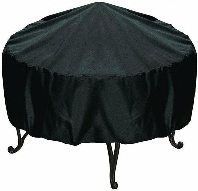ZHONXIN Cubierta Redonda para Muebles, Cubierta para Barbacoa, Tela Oxford Impermeable, a Prueba de Viento, a Prueba de rasgaduras y Resistente a los Rayos UV (38 * 40cm)