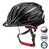 CooSpo Erwachsene Fahrradhelm Unisex Bike Helm Fahrrad Radhelm mit Abnehmbarem Visier und Polsterung Für Herren Damen (58-62cm)-【Geschenk Radmütze】