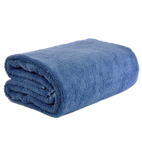 Chakir Turkish Linen Turkish Cotton - Oversized (40-Inch-by-80-Inch) Bath Towel, Wedgewood