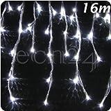 Guirlande stalactites LED effet chute de neige 16m blanc froid