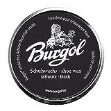 Burgol Cera de zapatos, shoe wax - nueva receta - Negro, One Size