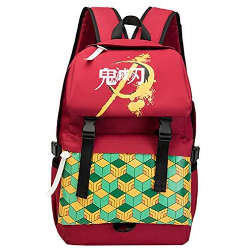 Saicowordist Demon Scape: Kimetsu no Yaiba Giyu Tomioka mochila escolar, bolsa de viaje de dibujos animados Kawaii, mochila de viaje, regalo para niños y niñas